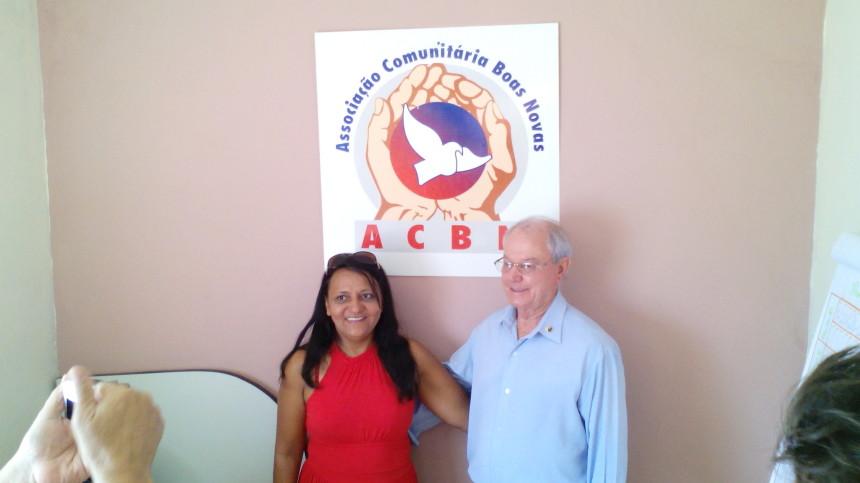 Claudia e Pedrinho ex-presidente